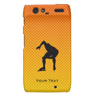 Yellow Orange Speed Skater Motorola Droid RAZR Cases