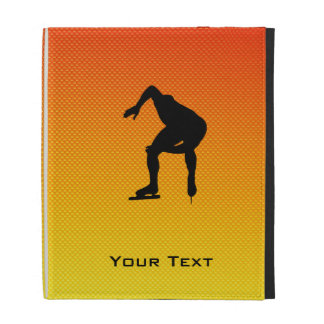 Yellow Orange Speed Skater iPad Folio Case
