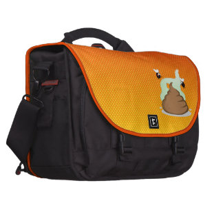 Yellow Orange Stinky Poo Computer Bag