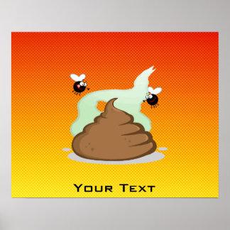 Yellow Orange Stinky Poo Poster