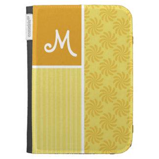 Yellow Orange Swirl Kindle Folio Cases
