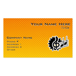 Yellow Orange Treble Clef Business Cards