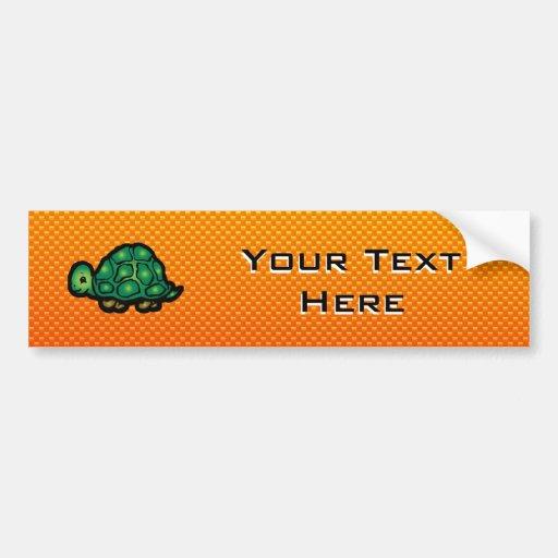 Yellow Orange Turtle Bumper Sticker