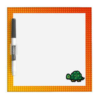 Yellow Orange Turtle Dry Erase Board