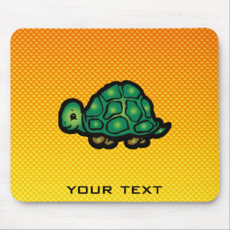 Yellow Orange Turtle Mouse Pad
