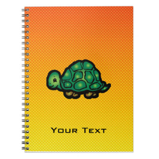 Yellow Orange Turtle Spiral Notebooks