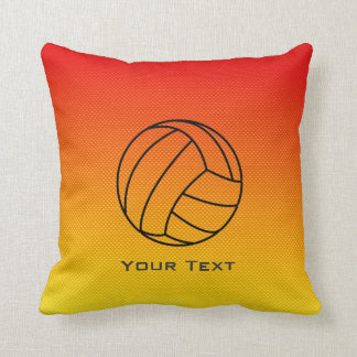 Yellow Orange Volleyball Cushion