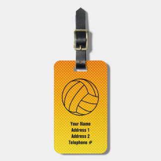 Yellow Orange Volleyball Luggage Tag