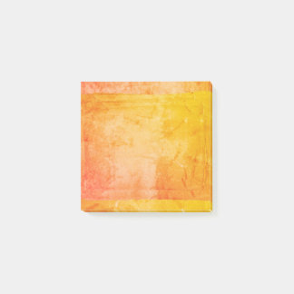 Yellow Orange Watercolor Paint Screen Print Artist Post-it Notes