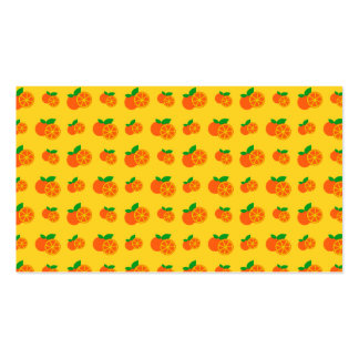 Yellow oranges pattern business card template