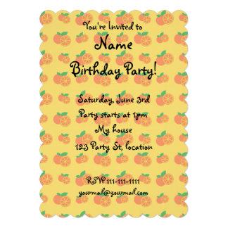 Yellow oranges pattern custom invitations