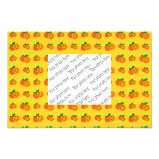 Yellow oranges pattern photo