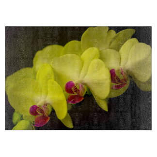 Yellow Orchid - Decorative Glass Cutting Board