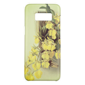 Yellow orchid floral art phone case