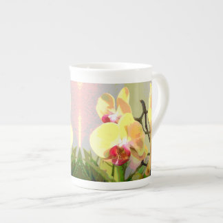 Yellow Orchids in the afternoon sun Bone China Mug