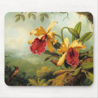 Yellow Orchids Mouse Mat