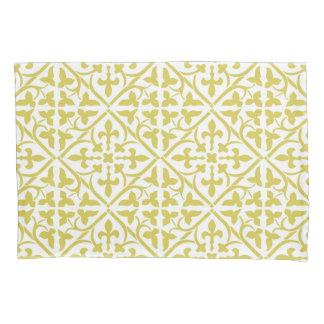Yellow Ornamental Medieval Pattern Pillowcase
