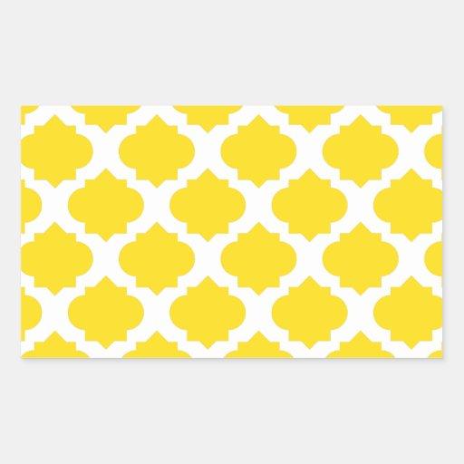 Yellow Ornate Pattern Stickers