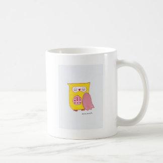 Yellow Owl Basic White Mug