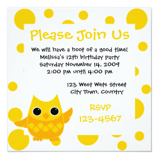 Yellow Owl Card