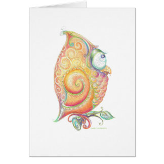 Yellow Owl Greeting Card