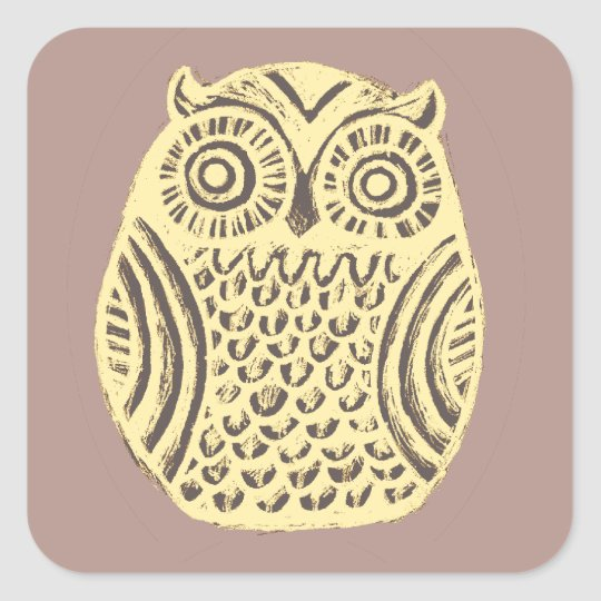 yellow owl sticker sheet