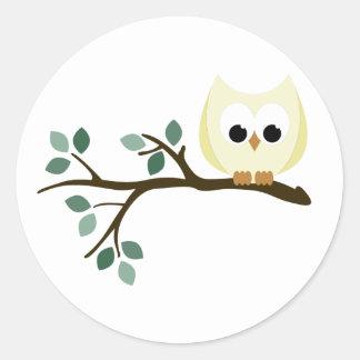 Yellow Owl Stickers