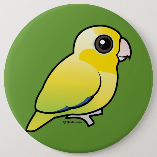 Yellow Pacific Parrotlet 6 Cm Round Badge