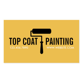 Yellow Painting Painter Construction Business Card