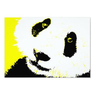 yellow panda 9 cm x 13 cm invitation card