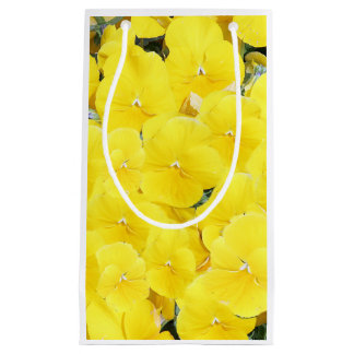 Yellow pansies small gift bag