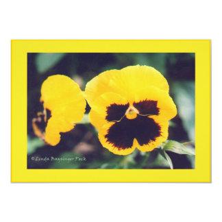 Yellow Pansy 13 Cm X 18 Cm Invitation Card