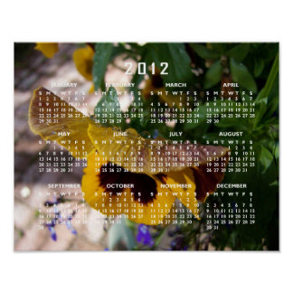 Yellow Pansy 2012 Calendar Posters
