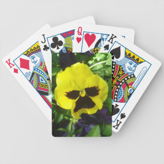 Yellow Pansy Playing Cards