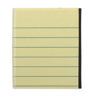 Yellow Paper iPad Case