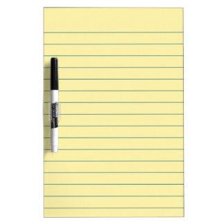Yellow Paper Dry Erase Board