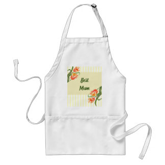 Yellow Parrot Tulips Flower Floral Art Standard Apron