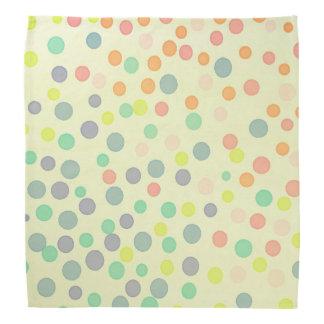 Yellow pastel multicolor dots bandana