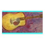 yellow patina acoustic guitar