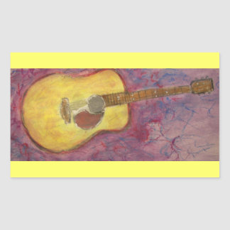 yellow patina acoustic guitar stickers