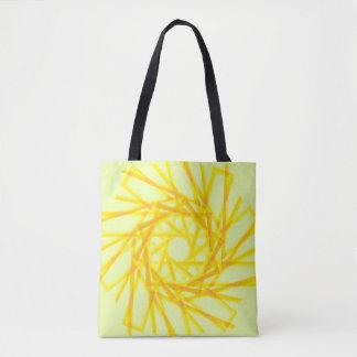 Yellow pattern bag