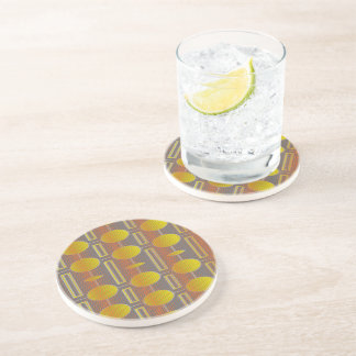 Yellow Pattern, Drinking Coaster - Lemon Drops