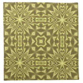 Yellow pattern napkin