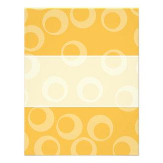 Yellow pattern of circles Retro Custom Personalized Invitation