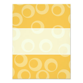 Yellow pattern of circles. Retro. Custom Personalized Invitation