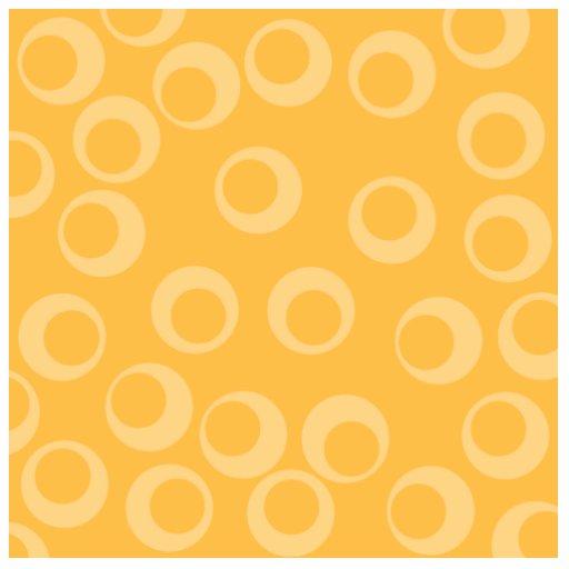 Yellow pattern of circles. Retro. Custom Photo Cut Out