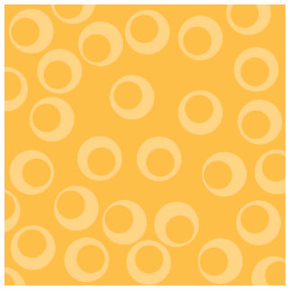 Yellow pattern of circles Retro Cut Out
