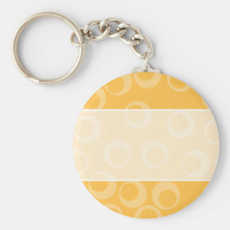 Yellow pattern of circles. Retro. Keychain