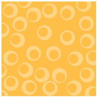 Yellow pattern of circles. Retro. Photo Cutout