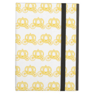 Yellow Pattern of Princess Carriages iPad Air Covers